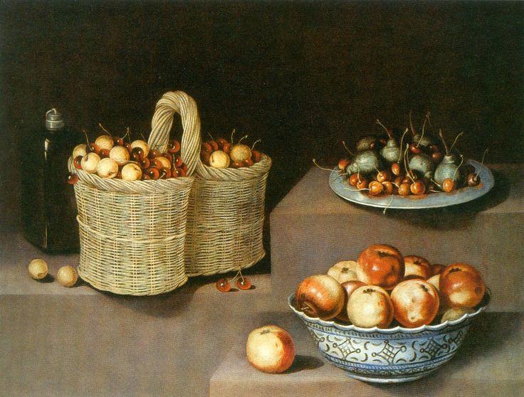 2 Antonio Ponce Bodegón con cesta, fuente y plato de fruta.jpg