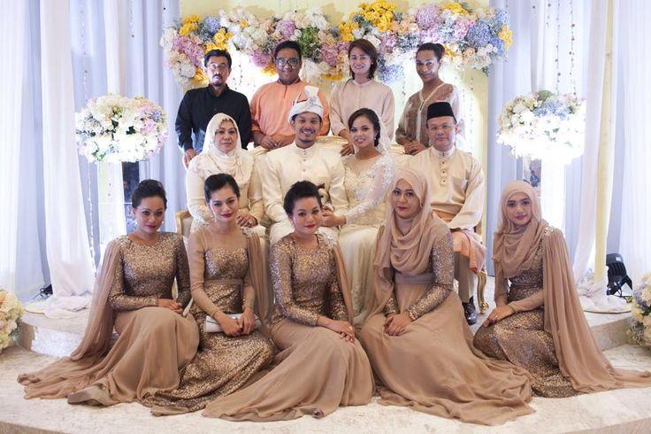 beautiful bridesmaids #hijab