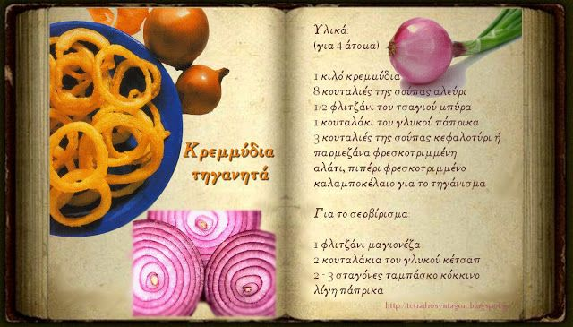 Συνταγές, αναμνήσεις, στιγμές... από το παλιό τετράδιο...: Κρεμμύδια τηγανητά!