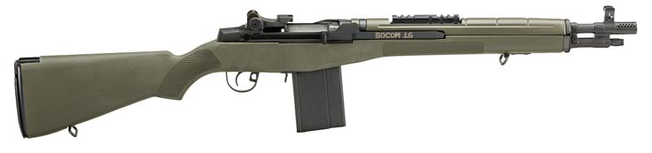 "M1A™ SOCOM 16 - 7.62X51MM NATO (308WIN) with OD Green Composite Stock and 16.25"" Parkerized Carbon Barrel. Springfield Armory®"