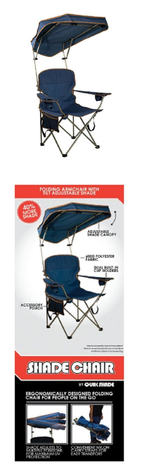 Camping Furniture 16038: Folding Chairs With Canopy Lawn Chair Beach Camping Outdoor Adjustable Navy -> BUY IT NOW ONLY: $39.78 on eBay!