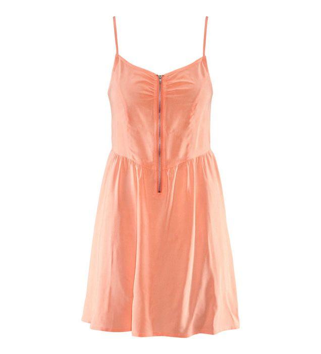 $35.99 Pure Spaghetti Strap Apricot Dress @ MayKool.com