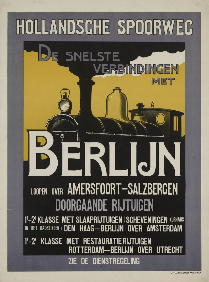 Hollandsche Spoorweg De snelste verbindingen met Berlijn loopen over…