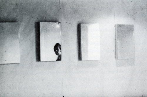 Art & Language, Untitled Painting, 1965—mirrors mounted on canvas, 30x61cm.: 1965 Mirrors Mount, Languages Untitled, Art Languages, 1965Mirror Mount, Pictures, Untitled Painting, 30X61Cm, Canvases, Painting Mirrors