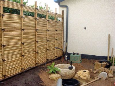 8 best Cloture bambou images on Pinterest | Bamboo fence, Decks and ...