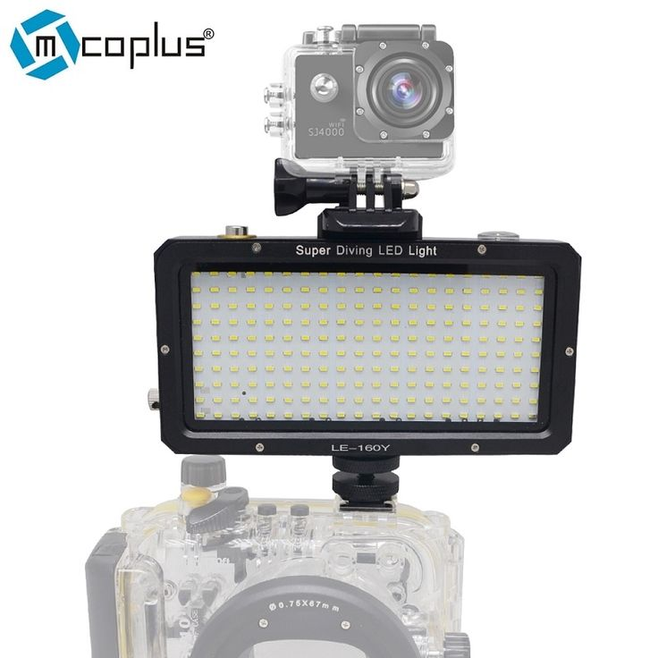 102.00$  Watch now - http://alix8j.worldwells.pw/go.php?t=32593012538 - Mcoplus 160pcs LED Diving Lamp Waterproof Underwater Video light 25M 82ft for Sony Canon Nikon Camera GoPro SJCAM Sport DV