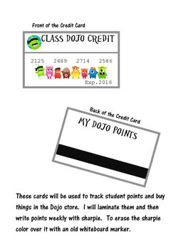 "Use these ""Credit Cards"" with the app Class Dojo to track student points.  File…"