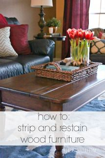 BLOG TITLE  how to strip and restain wood furniture