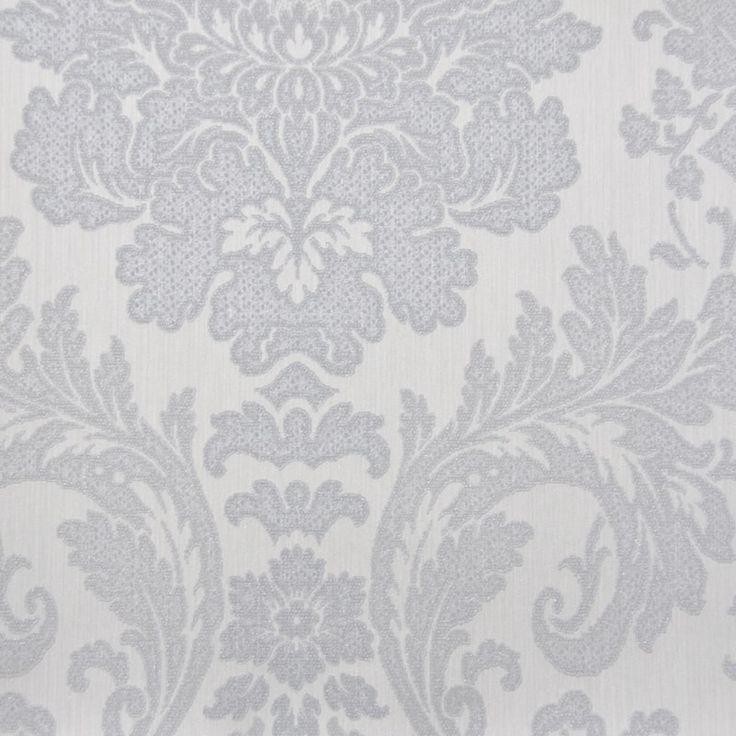 Tapet textil gri floral 072432 Sentiant Pure Kolizz Art