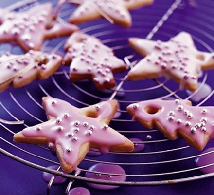 Sparkling vanilla Christmas cookies