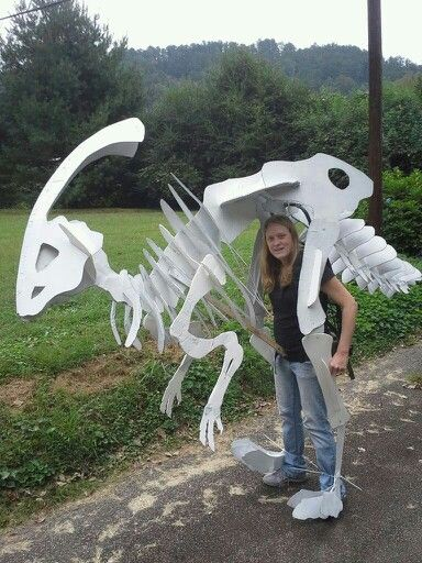 Diy Dinosaur Skeleton Costume Oh You Crafty Ninja Diy