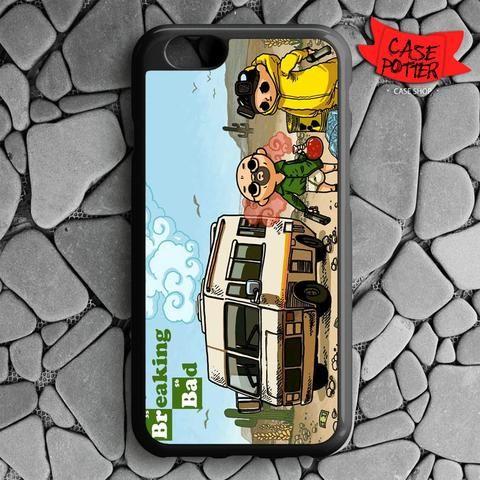 Cartoons Breaking Bad Artwork Amc iPhone 6 iPhone 6S Black Case