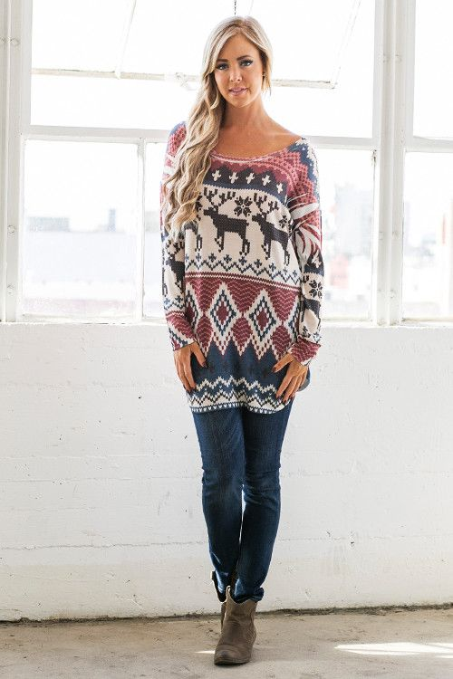 All's Fair Isle in Love and War Winter Wonderland Tunic