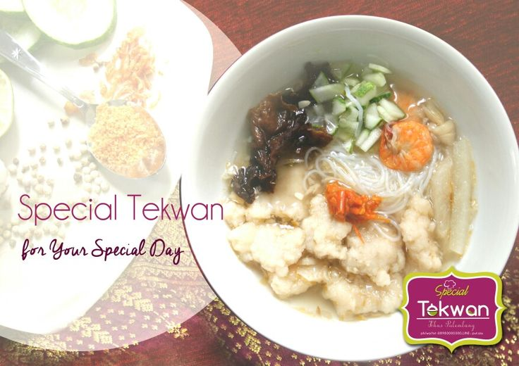 Special fishball soup called tekwan, delivery order