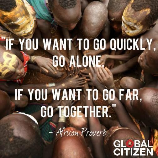 Ini pepatah Afrika yang mengajarkan kebersamaan adalah jawabannya. | via @GlblCtzn