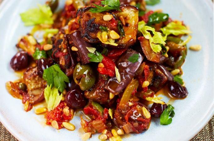 Vegetarian Italian Eggplant Stew (Caponata) - Jamie Oliver
