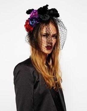 Enlarge ASOS Premium Gothic Halloween Rose Flower Headband