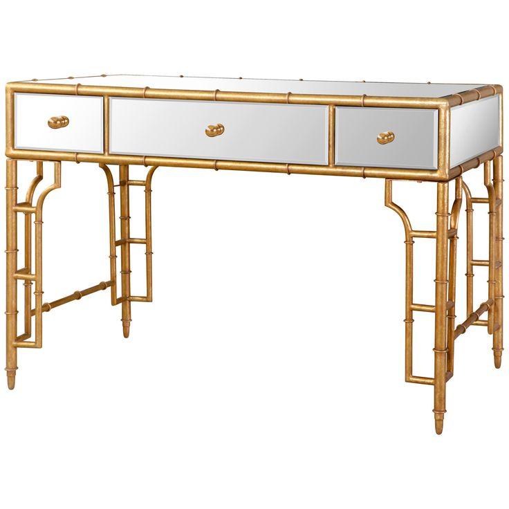 Bungalow 5 Collette Desk in Gold