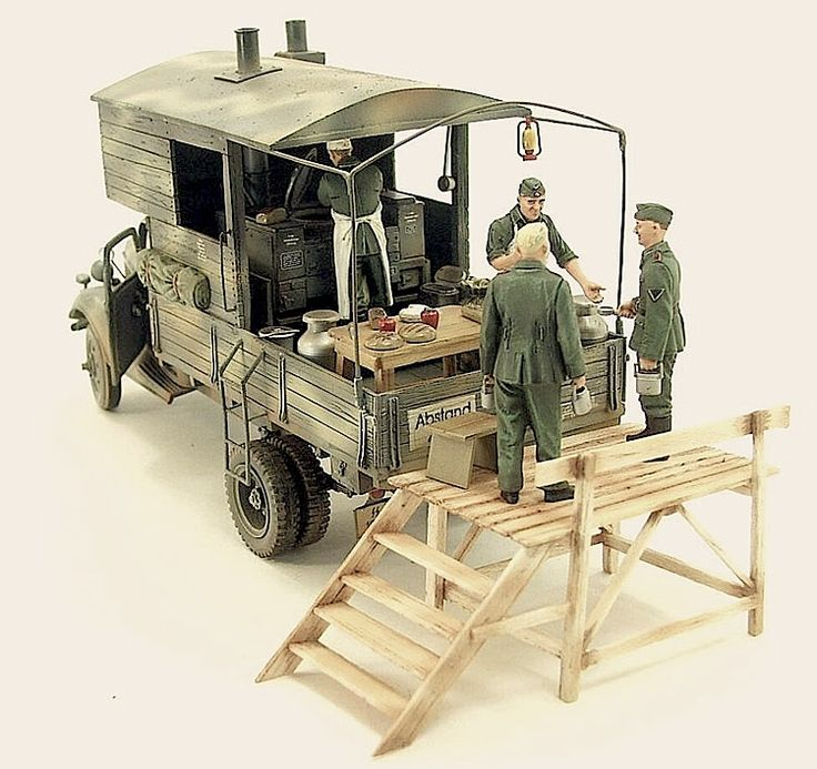 Ford Military Field Kitchen model diorama.