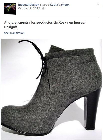 Zapatos Koska en INUSUAL DESIGN Calle 118 No. 15A-14  Bogotá Tel: 57 (1) 5209057 info@inusualdesign.com
