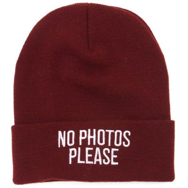 Young and Reckless No Photos Beanie ($21) ❤ liked on Polyvore featuring accessories, hats, beanies, hair, burgundy, embroidery hats, embroidered hats, burgundy hat, beanie cap and burgundy beanie