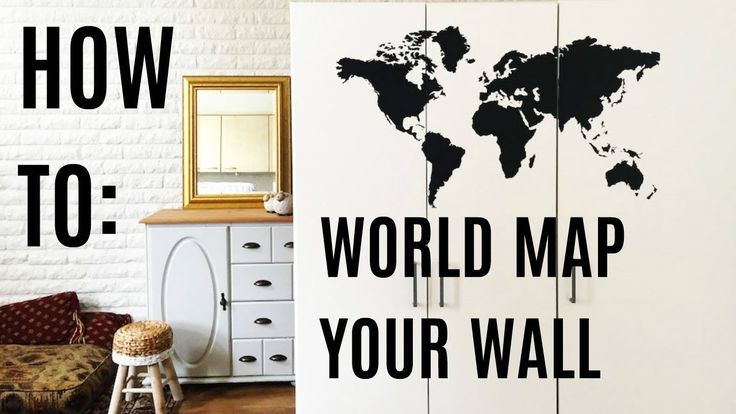HOW TO: Apply a We Should Chalk World Map Decal Sticker