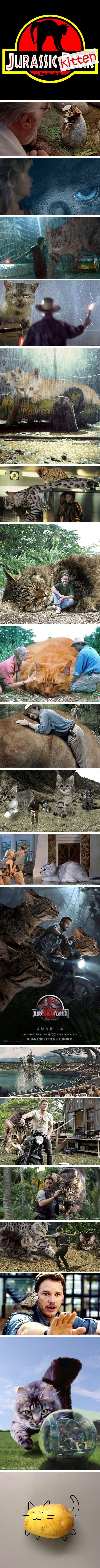 If Dinosaurs In Jurassic Park Franchise Were Fluffy, Vicious Cats