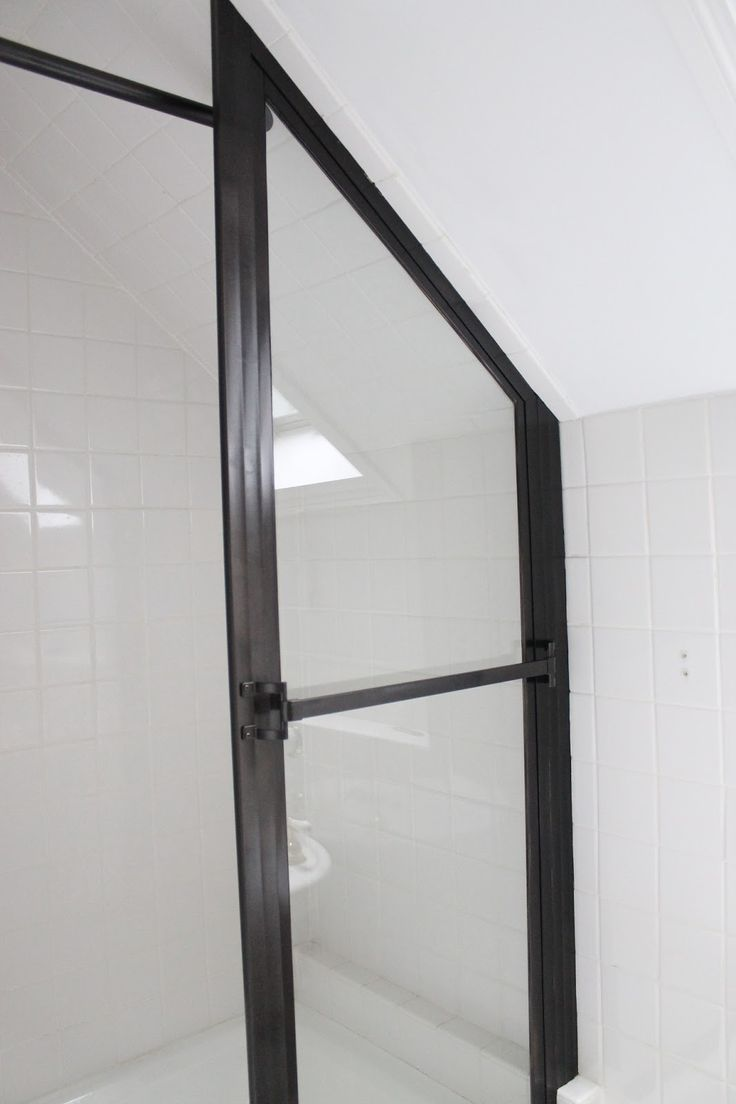 Spray painting shower door frame bathrooms pinterest for How to spray paint doors