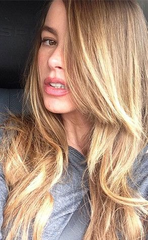 Sofia Vergara shows off her gorgeous blond hair, minutes after leaving the salon.