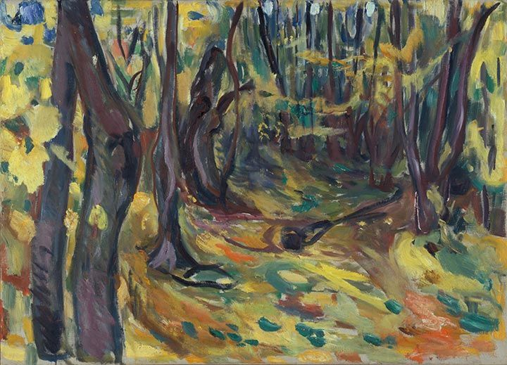 The elm forest » Munch's Ekely