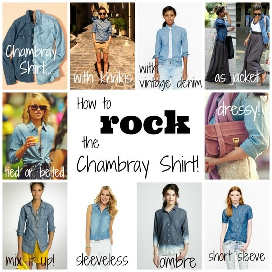 Chambray Shirt: How to Rock it! by The Sweet Spot Blog http://thesweetspotblog.com/chambray-shirt-how-to-wear-it/ #chambray #fashion #denim #shirt #women