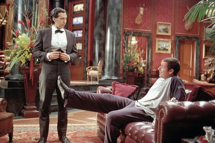"""The hideousness of that foot will haunt my dreams forever."" ""I've heard that before."" Love mr deeds!!"