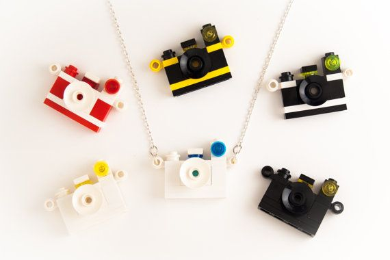 Lego camera necklace by Pigis on Etsy, €13.00