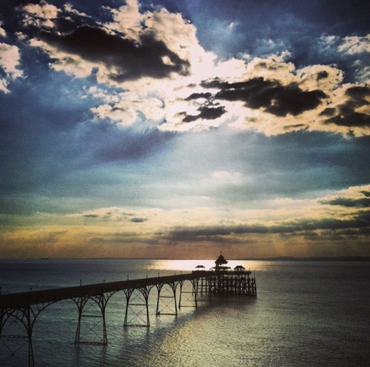 Clevedon Pier, a seaside pier in the town of Clevedon, Somerset, England on the east shore of the Severn Estuary. Was built during the 1860s to attract tourists and provide a ferry port for rail passengers to South Wales.