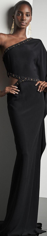 Ralph Lauren Mayra Cady One Shoulder Gown