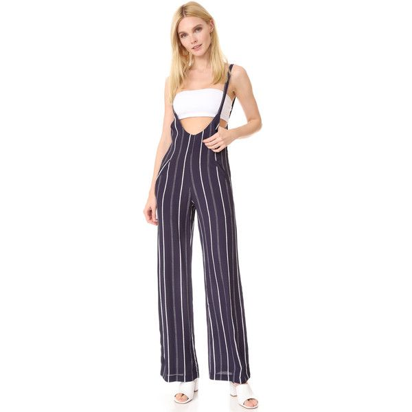 Flynn Skye Easy Rider Jumpsuit ($165) ❤ liked on Polyvore featuring jumpsuits, sailor stripe, striped jumpsuit, wide leg jumpsuit, jump suit, purple jumpsuits and flynn skye