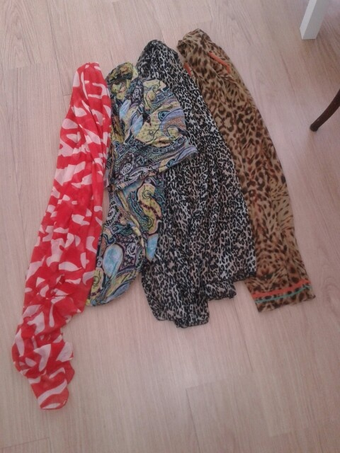 Coloutful scarves