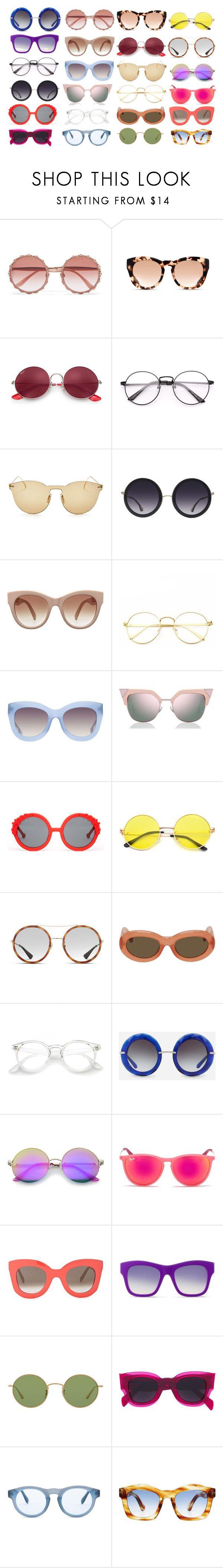 """Glasses"" by leloquevedo on Polyvore featuring moda, Dolce&Gabbana, Michael Kors, Ray-Ban, Illesteva, Alice + Olivia, STELLA McCARTNEY, Fendi, Preen y Gucci"