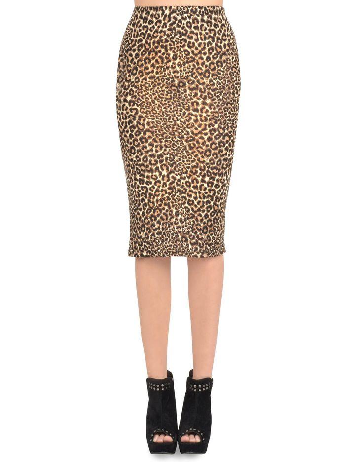 Silky leopard midi skirt - Clothing - $22.50