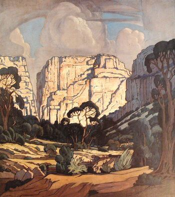 South African artist Jacobus Hendrik Pierneef