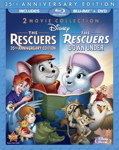 I'm not sure how I feel about Disney forcing these multiple volume Blu-Rays upon their customers, but this would be worth it just for the Rescuers Down Under.: Three Disc Blu Ray Dvd, Anniversaries, Movie, Blu Ray Packaging, Disney