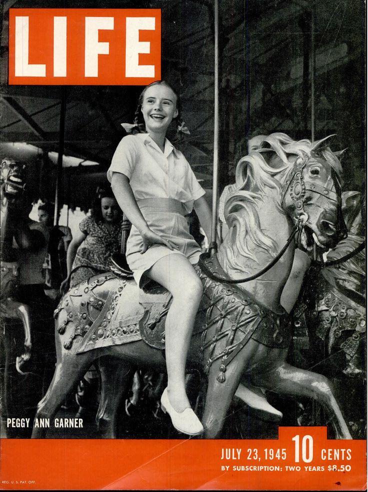 Junior Miss(1945), Peggy Ann Garner. ※7/23/1945,LIFE #movies