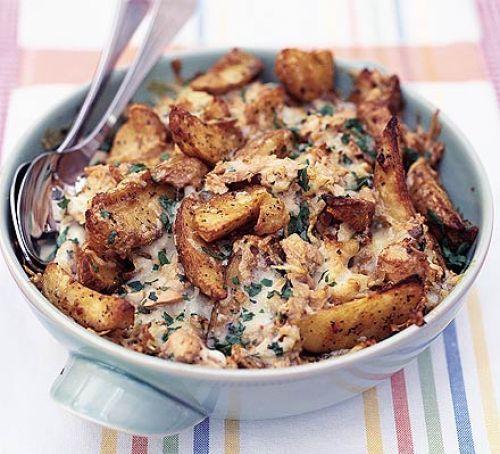 Tuna melt potato wedges