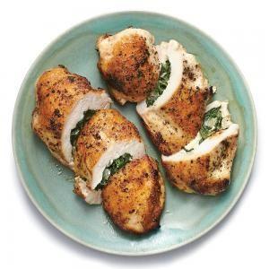 Spinach and Feta Stuffed Chicken Breasts | MyRecipes.com