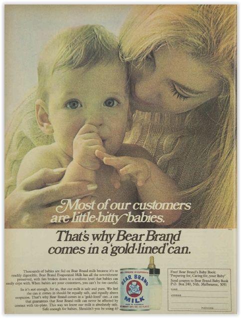 Bear Brand Milk Baby Formula Magazine Advertisement Ad January 1970 Vintage Retro