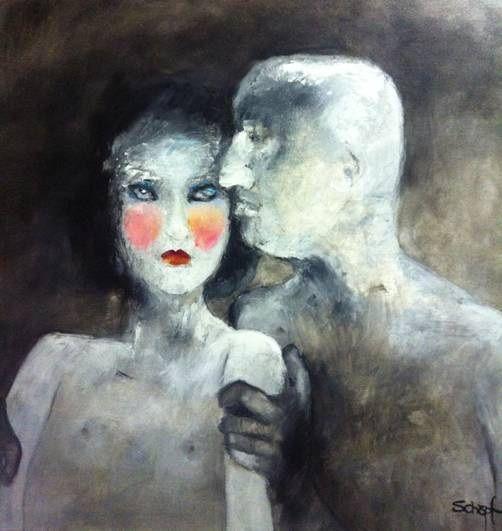 "Margo Shopf / oil on canvas / "" Seduction ""  Enquiries : art@arteye.co.za"