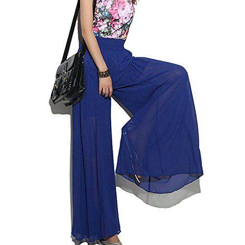 amtonseeshop 1PC Fashion Creative Wide Leg Chiffon High Waist Pants Long Loose Culottes Trousers For Ladies Women Girls (Blue) amtonseeshop http://www.amazon.com/dp/B00L3TGB0A/ref=cm_sw_r_pi_dp_vZ3hub1EFAACD