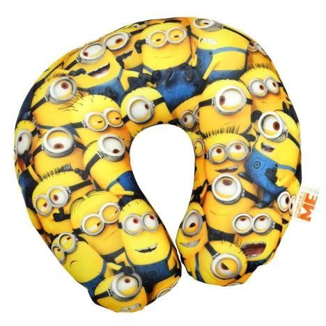 Universal Pictures Official Despicable Me Minions Cosy Travel Pillow - Kids Travel Pillow - 1 Unit