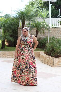 vestido longo plus size estampado 5