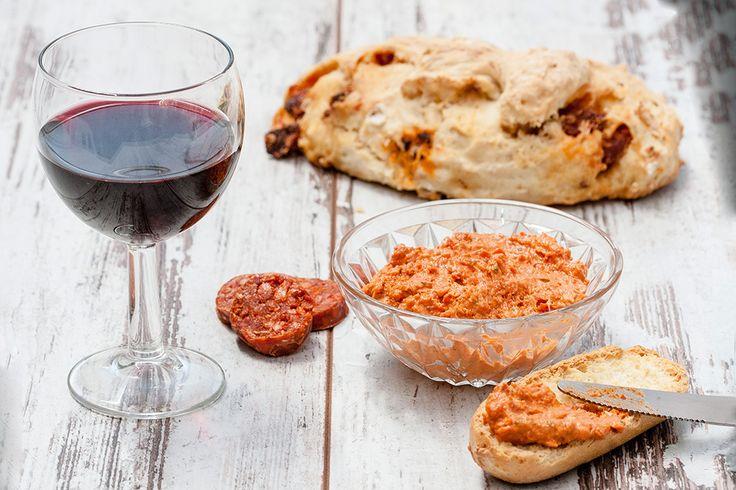 Rillettes de chorizo et pain au chorizo